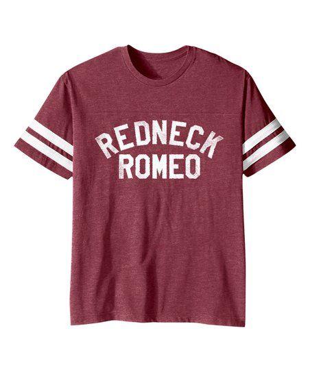 Vintage Burgundy Redneck Romeo Football Tee - Toddler & Kids   zulily