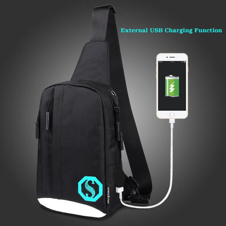 USB Charging Fashion Unisex Messenger Bag Casual Summer Chest Bag Cross-body Bag