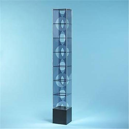 "Francisco Sobrino untitled Editions Denise Rene France, 1968 plexiglass 4.25""w x 4.25""d x 31.75""h"