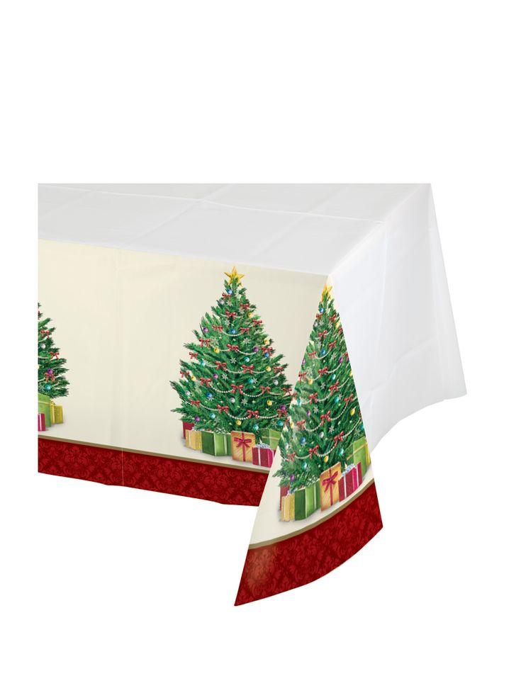 Mantel de plástico árbol de Navidad 137 x 259 cm