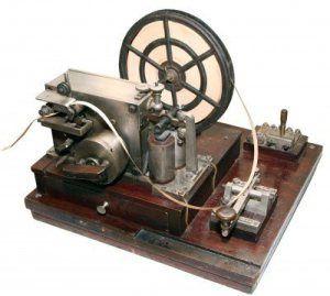 Imagen de un telégrafo eléctrico.