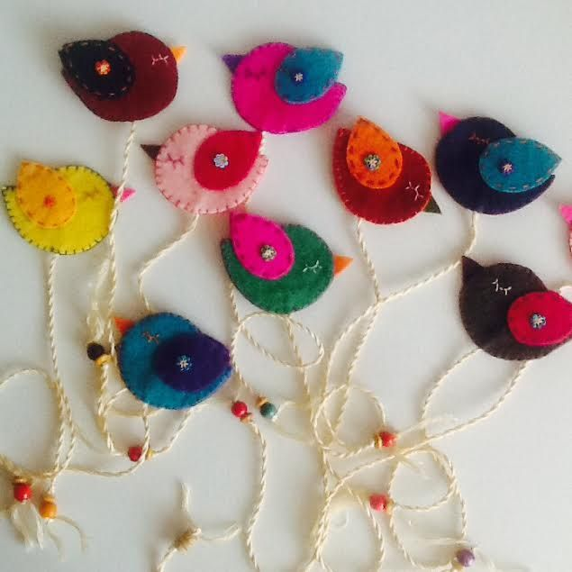 Birds,Bookmark,Felt
