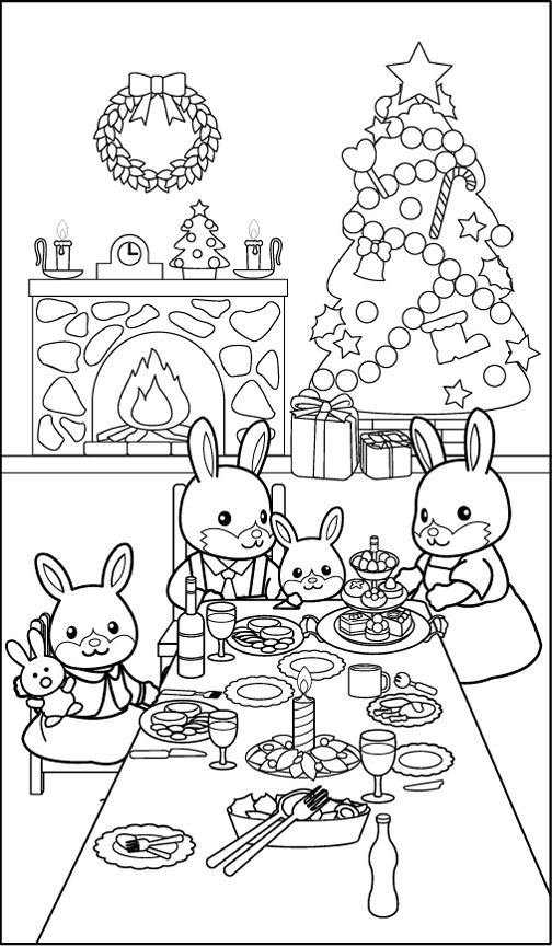 Coloring Winter Animals : Christmas printables: puppy coloring pages animal jr.