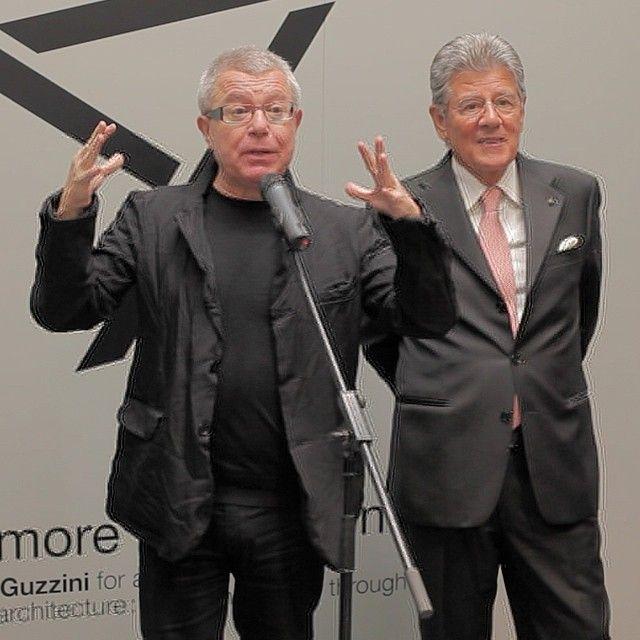 Adolfo Guzzini of iGuzzini illuminazione and Daniel Libeskind. #LightFirst #lb14 #Frankfurt #architecture #lighting