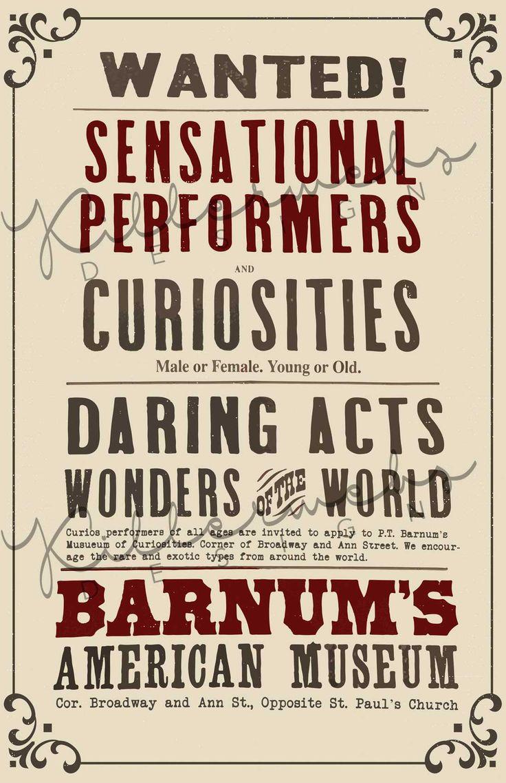 greatest showman sensational performers  u0026 curiosities
