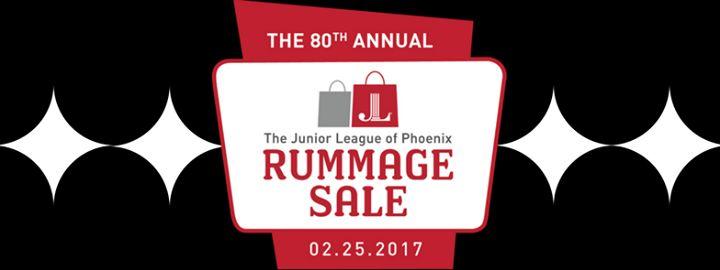 80th Annual Junior League of Phoenix Rummage Sale @ Arizona Exposition & State Fair Exhibit Building - 25-February https://www.evensi.com/80th-annual-junior-league-of-phoenix-rummage-sale-arizona/194953492