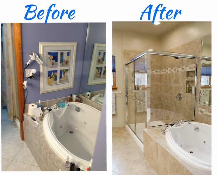 32 best re bath before and afters images on pinterest for Complete bathroom remodel