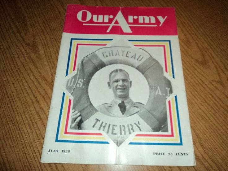 Our Army July 1938 Magazine 1938 Class at West Point Graduating Class
