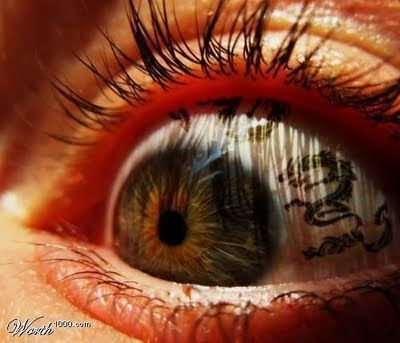 Realistic Eyeball Tattoos | Here are some pictures of eyeball tattoo or corneal tattoo. Are you ...