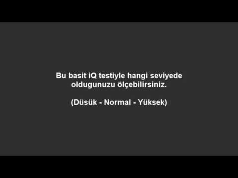 5 #dakikada #Zeka #Testi #Yap #çok #ilginç ve #değişik birşey... http://www.fpajans.com