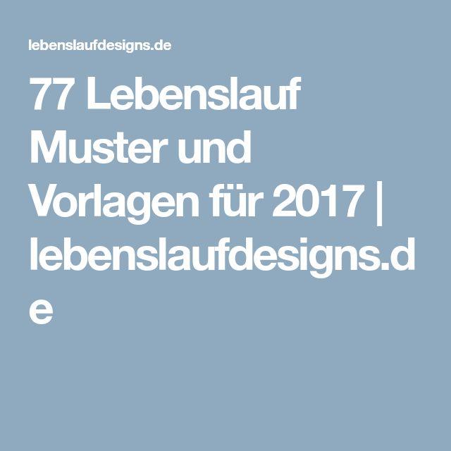 77 Lebenslauf Muster und Vorlagen für 2017 | lebenslaufdesigns.de