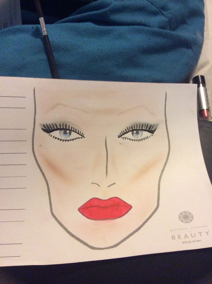 Few mistakes but first time playing around with the face chart..