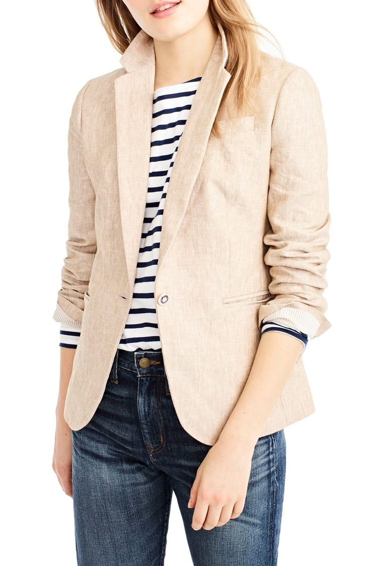 J.Crew Campbell Linen Blazer (Regular and Petite) available at #Nordstrom