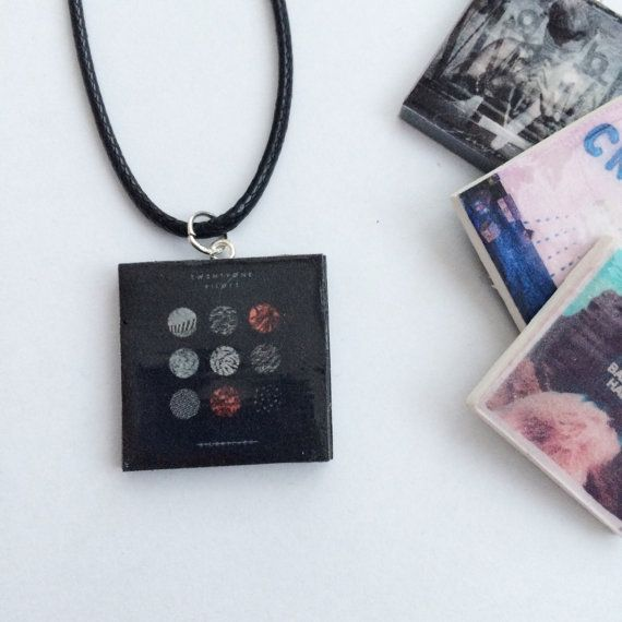 Twenty One Pilots Blurryface Necklace by Charm4Geeks on Etsy