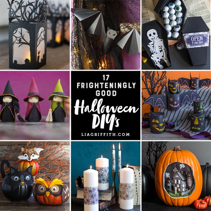 17 frighteningly good Halloween DIYs to get you read for all of the tricking and treating to come! Costumes and gift wrap and decor galore...
