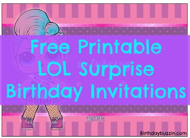 Free Printable Lol Surprise Birthday Party Invitations Birthday Buzzin Surprise Birthday Invitations Party Invite Template Surprise Birthday Party Invitations