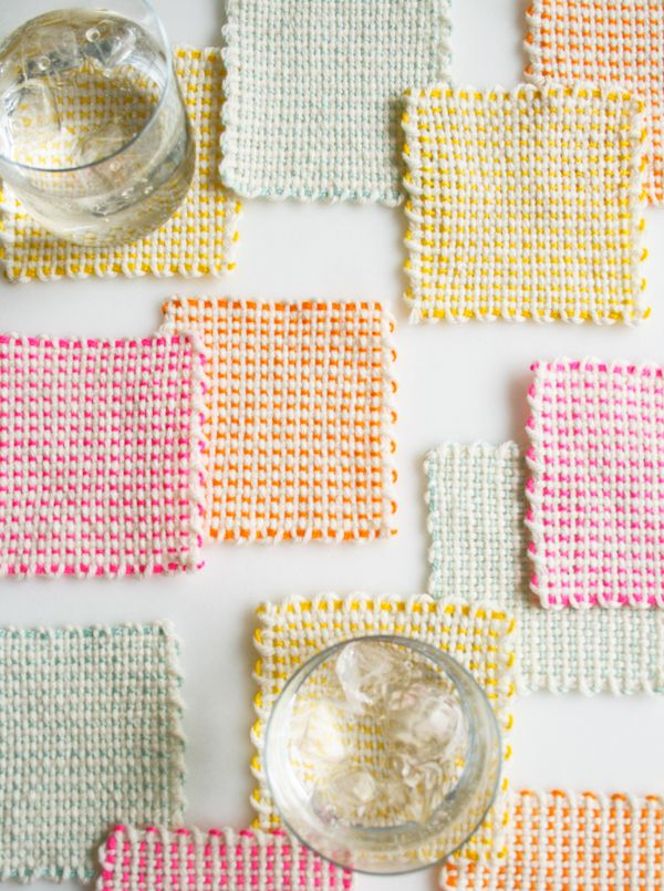 DIY Pin Loom Coasters.