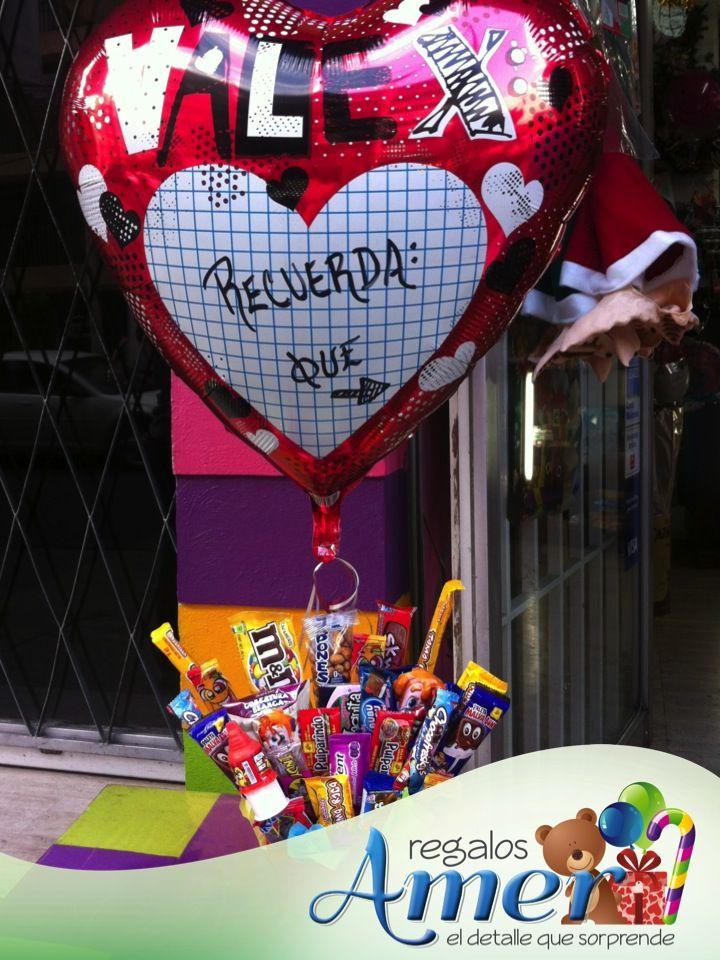 Recuerda que.....te quiero.... personaliza tu globo. Envíos a domicilio. Regalos y globos Amer. 5524 6977 Mexico,DF