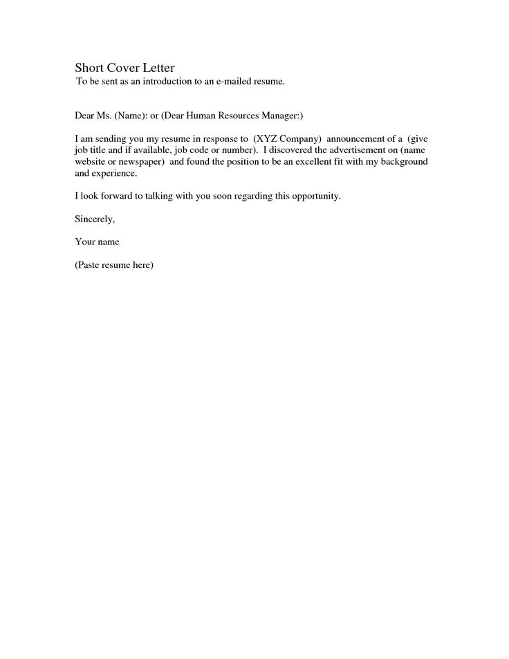 Simple cover letter sample thanks tips tricks for Great short cover letters