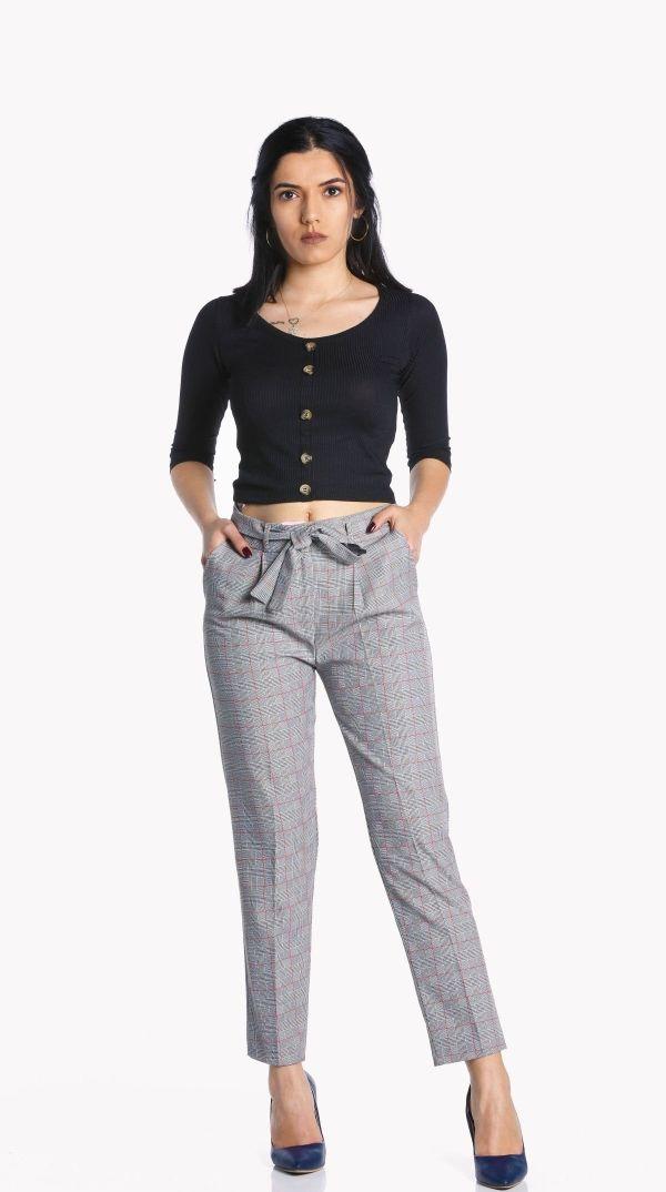 Kirmizi Cizgili Kumas Pantolonu 190181 Kapida Odemeli Ucuz Bayan Giyim Alisveris Sitesi Modivera Giyim Pantolon Yeni Moda