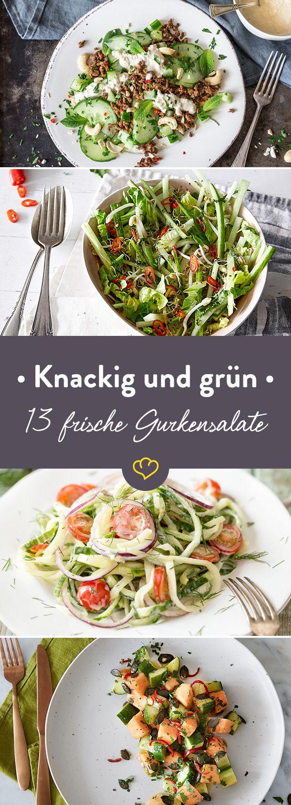 Frisch, knackig - und so wandelbar. Glaubst du nicht? Probier unsere Gurkensalate, die mehr können als nur Essig, Öl und Dill.