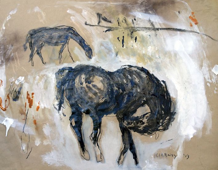 In the field by James Kearns.  'The Cycle of Life' by James Kearns | Juxtaposed subjects of animals and humans, along with conflicting themes of light and dark, masculine and feminine, failure and hope, in addition to... http://goo.gl/bkAGc4  #art #australianart #jameskearns #chg