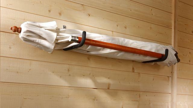 Mottez set van 2 muurhaken D 35 cm, alternatief fiets ad muur hangen