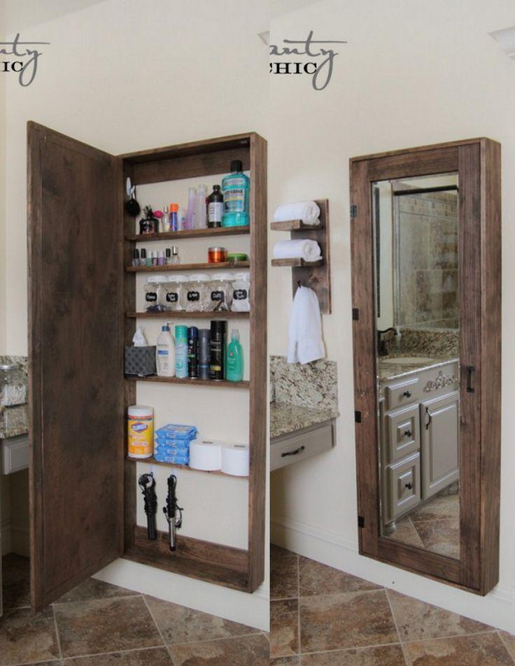 Best 25 bathroom mirror cabinet ideas on pinterest for Diy mirrored kitchen cabinets