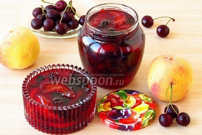 Варенье из персиков и вишни