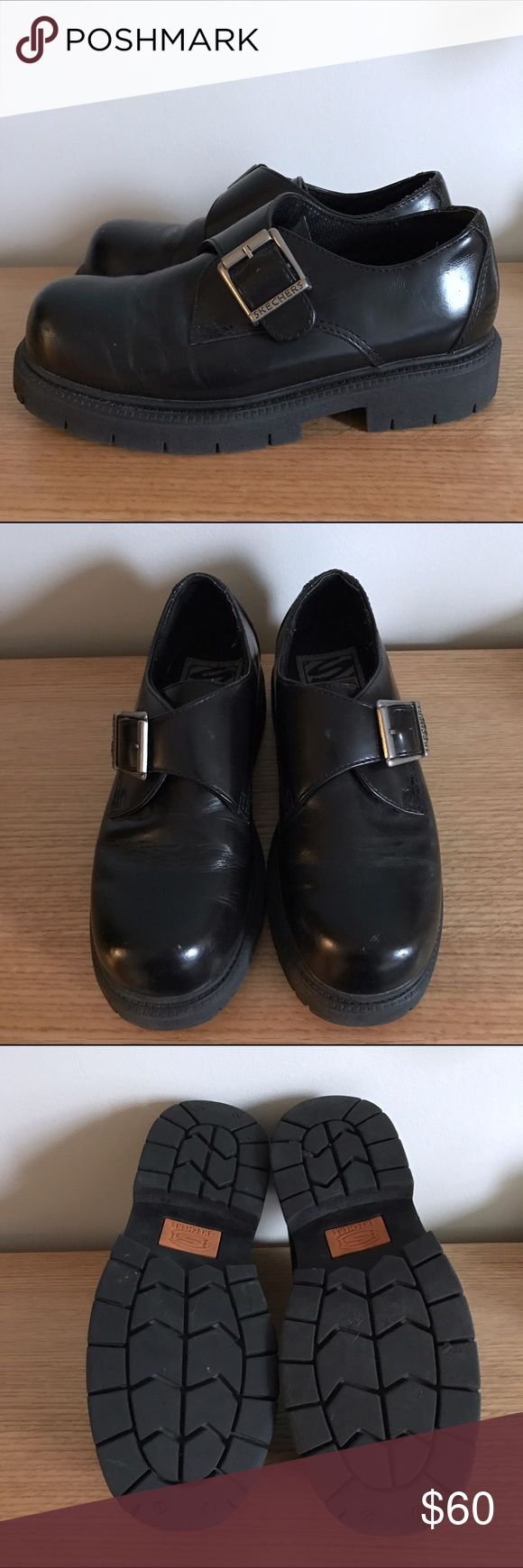 Skechers chunky buckle oxfords Brandy for exposure only. Vintage Skechers buckle monk strap oxfords. Women's size 8. Creasing on the toes but in excellent condition. / check out my closet and bundle to save! Open to reasonable offers Brandy Melville Shoes Flats & Loafers