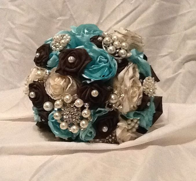 Blue Brown Wedding Bouquets : Best images about teal and brown wedding on