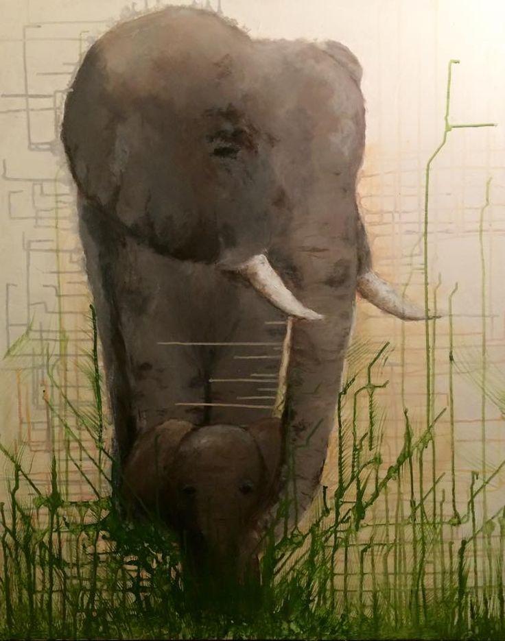 #elefant #elephant #acrylic #painting #diy