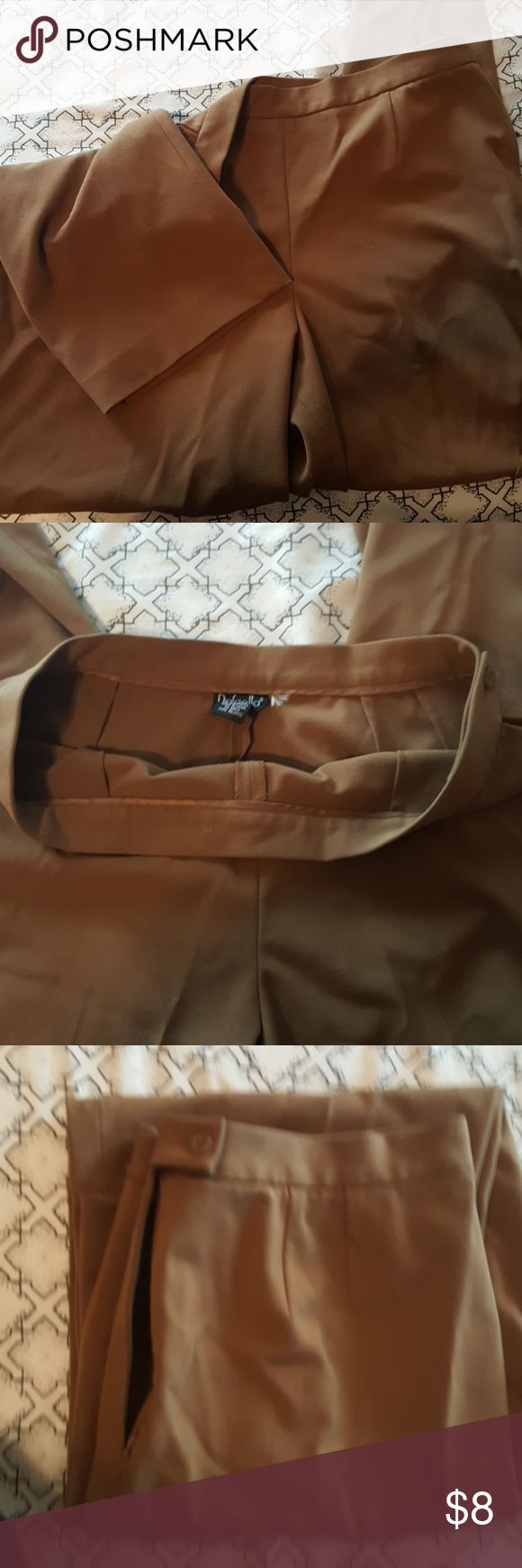 Slacks Camel color, polyester rayon blend, average length, great condition! Rafaella Pants Trousers