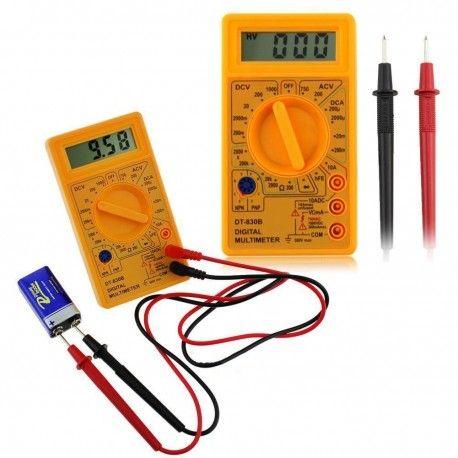 Gul Digital Multimeter Funktionelt multimeter til måling af strøm, modstand mm. Kompakt design
