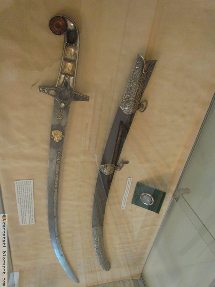 Sabia lui Brincoveanu are aceleasi simboluri cu sabii dacice