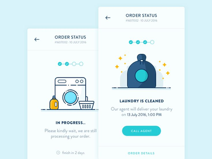 Order Status Screen - Laundry App  by Thomas Budiman #Design Popular #Dribbble #shots