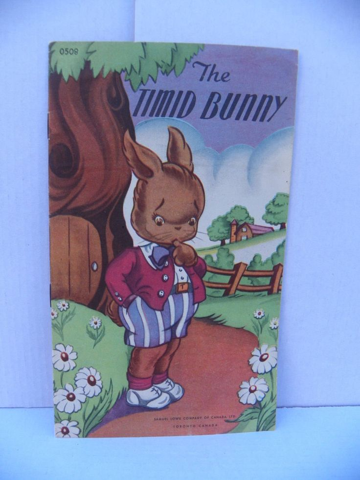 Vintage Children's Book - The Timid Bunny , Antique 1940's Children's Story Book , 1940's Samuel Lowe Company #0508 , Soft Cover Kid's Book by ShersBears on Etsy