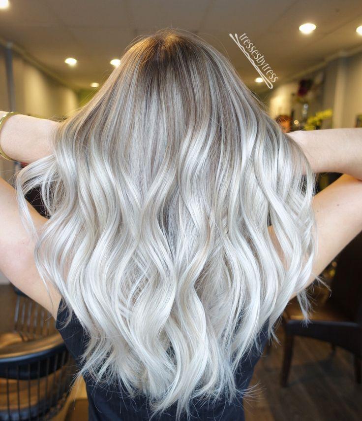 redken shades eq 09P, 09V, clear hair Platinum blonde