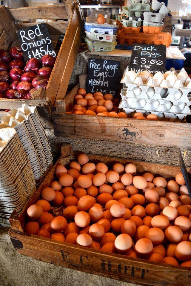 Fresh Eggs at The Goods Shed, Canterbury | www.rachelphipps.com @rachelphipps