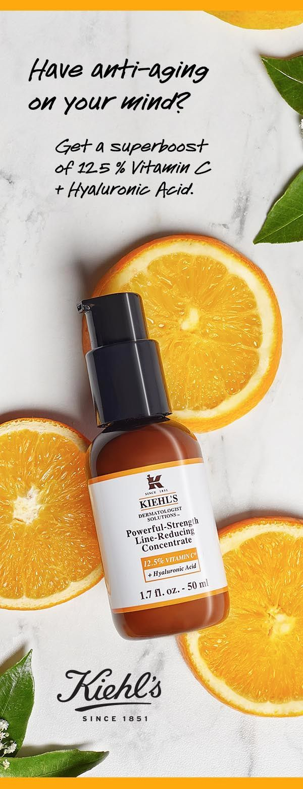 Add some zing to your skincare routine with Kiehl's reformulated Powerful Strength Line Reducing Concentrate. Now with 12.5% Vitamin C and Hyaluronic Acid to improve your skin's texture and reduce the appearance of wrinkles.