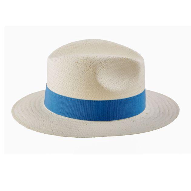 chapeau-de-plage-en-paille-naturel-écru-bordure-bleu-roi-mode-accessoire-été-tendance-panama-femme-homme
