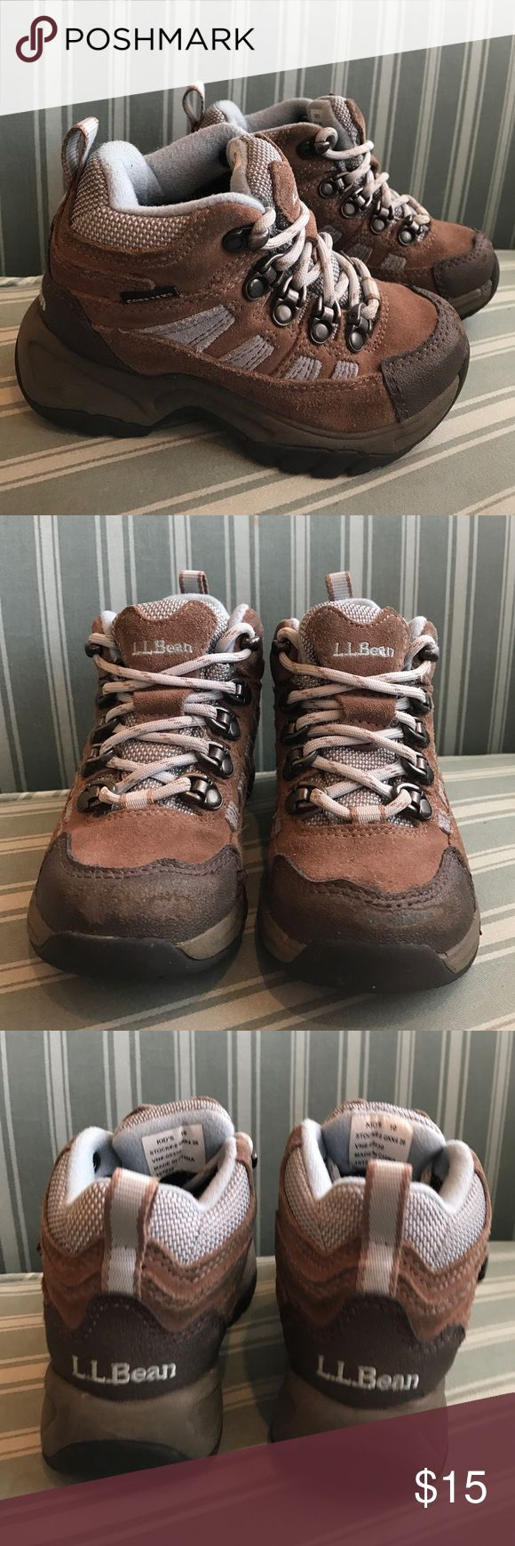 L.L. Bean waterproof hiking boots little boys 10 This is the cutest little pair of hiking boots! They are Gore-Tex waterproof leather boots that lace up. They are a toddler size 10 and are in great shape! L.L. Bean Shoes Boots
