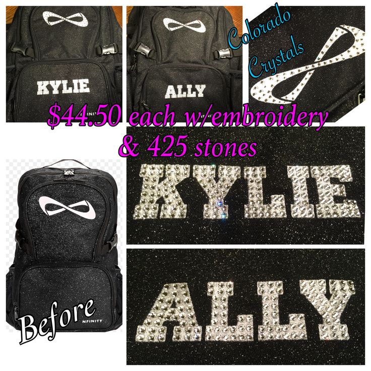 Custom your cheer backpack with embroidery