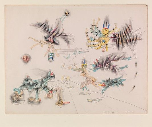 Untitled  Roberto Matta  (Chilean, Santiago 1911–2002 Civtavecchia, Italy)    Date:      1941  Medium:      Graphite and colored crayons on paper