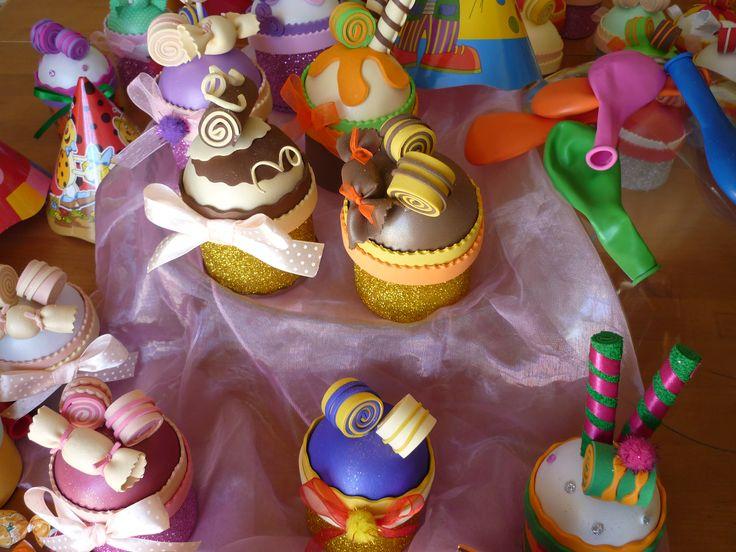 Brindes Cupcake para colocar guloseimas, baloes e outros