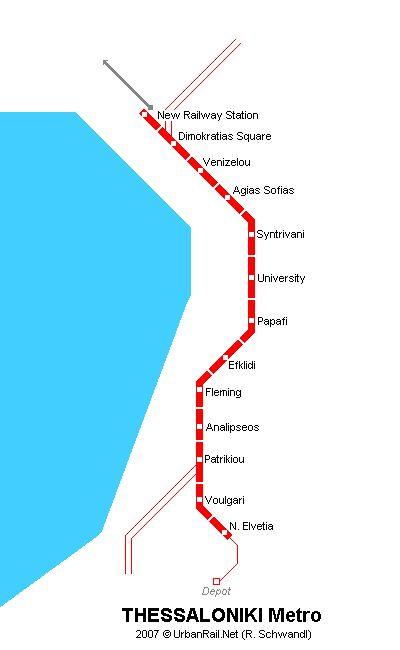 Thessaloniki Metro Map © R. Schwandl