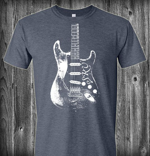 Stevie+Ray+Vaughan+SRV+Guitar+T+Shirt+by+LuckyArmadillo+on+Etsy,+$14.99