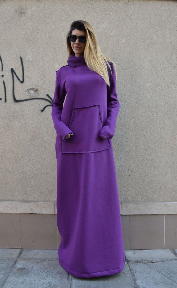 NEW Collection Purple Maxi Dress / Quilted Lined by SSDfashion