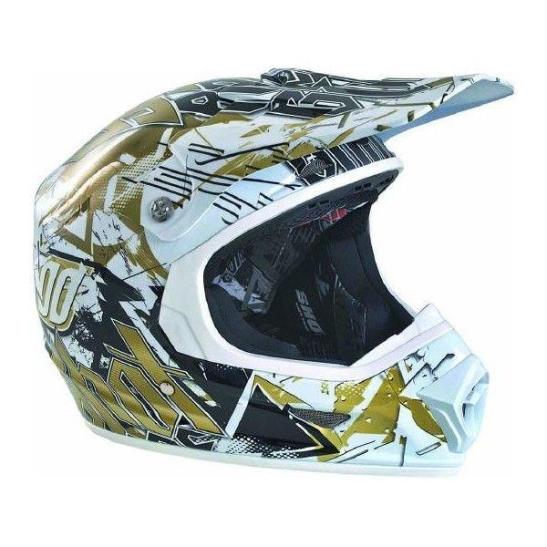 Casque Shot Furious Impact Gold #casque #Speedway #enfant #moto #or #motocross