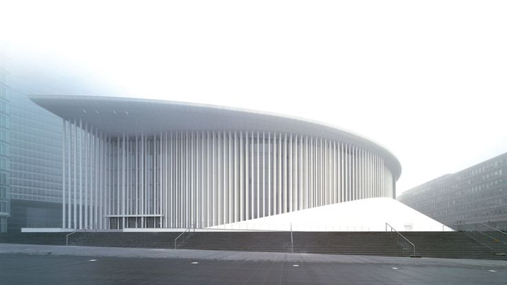 Luxembourg Philharmonic, 2005, Architect: Christian De Portzamparc